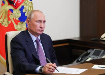 MOSCOW REGION, RUSSIA - JUNE 25, 2020: Russia's President Vladimir Putin holds a meeting with members of the Russian Civic Chamber via video link from Novo-Ogarevo residence. Mikhail Klimentyev/Russian Presidential Press and Information Office/TASS  Ðîññèÿ. Ìîñêîâñêàÿ îáëàñòü. Ïðåçèäåíò Ðîññèè Âëàäèìèð Ïóòèí ïðîâîäèò âñòðå÷ó ñ ÷ëåíàìè Îáùåñòâåííîé ïàëàòû Ðîññèè â ðåæèìå âèäåîêîíôåðåíöèè â Íîâî-Îãàðåâî. Ìèõàèë Êëèìåíòüåâ/ïðåññ-ñëóæáà ïðåçèäåíòà ÐÔ/ÒÀÑÑ